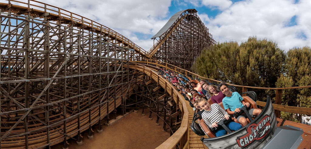 GhostRider - The tallest, fastest, longest wooden roller coaster in the West Coast