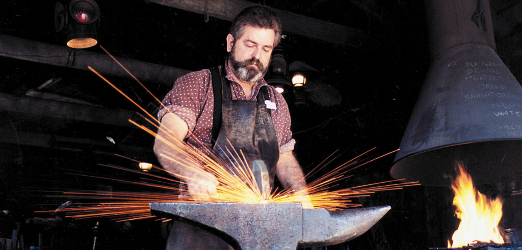 Blacksmith - showing folks how to forge metal.