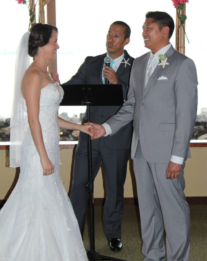 Huang's talents extend beyond performing magic shows to officiating weddings.