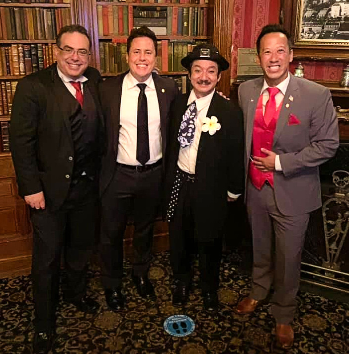 (From left to right) Magician Members Brian Markenson, Jeff Kaylor, Joe Namsinh, and Alex Huang.