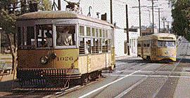 Los Angeles had several beautiful streetcars